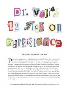 Dr Vapi 12 tips on Persistence